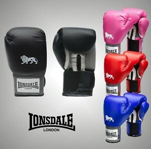 Unisex-Lonsdale-Sports-Boxing-Equipment-Pro-Training-Gloves-Sizes-10-16oz