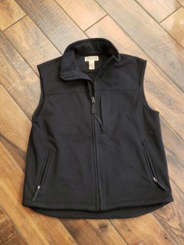 3 Front Pockets L LARGE Full Zip Duluth Trading Co Men/'s BLACK FLEECE VEST