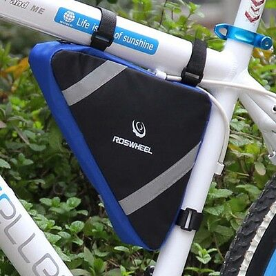 Cycling Bike Bicycle Front Frame Pannier Tube Triangle Bag Pouch Quick Release