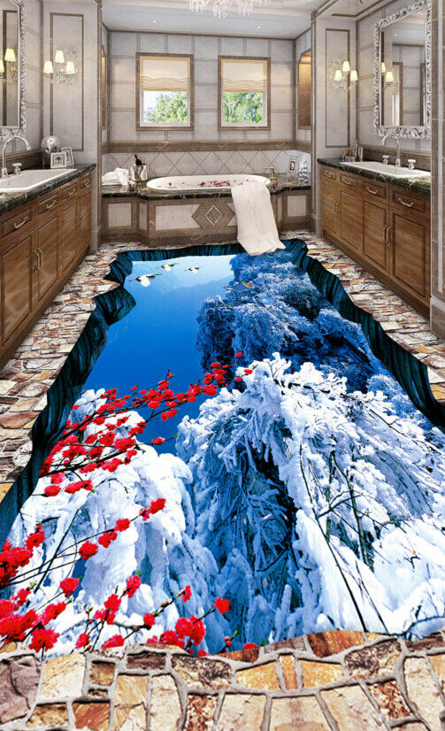 3D Pflaumenblüte Fototapeten Wandbild Fototapete Tapete Familie DE Lemon