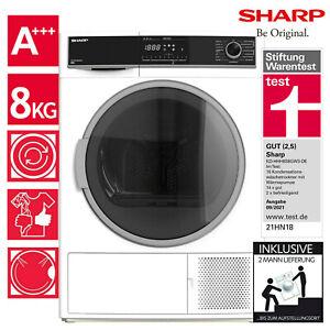 Wäschetrockner Trockner Wärmepumpentrockner A+++ Sharp KD-HHH8S8GW3-DE 8kg 2ML