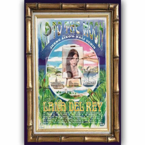 Lana Del Rey LA to the Moon Custom Silk Poster Wall Decor
