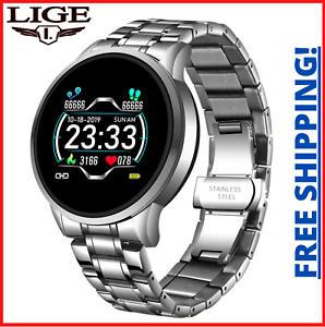Lige NEU Smart Watch Männer LED Bildschirm Fitness Tracker Blutdruck wasserdicht