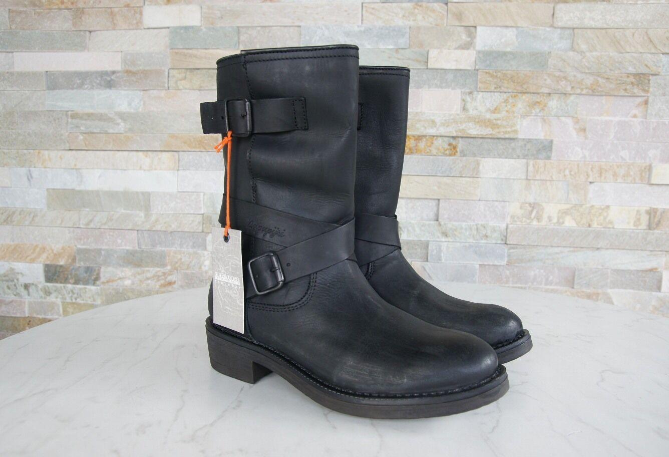 Napapijri 36 botas nuevo botines botas zapatos maia negro nuevo botas ex PVP 11df72