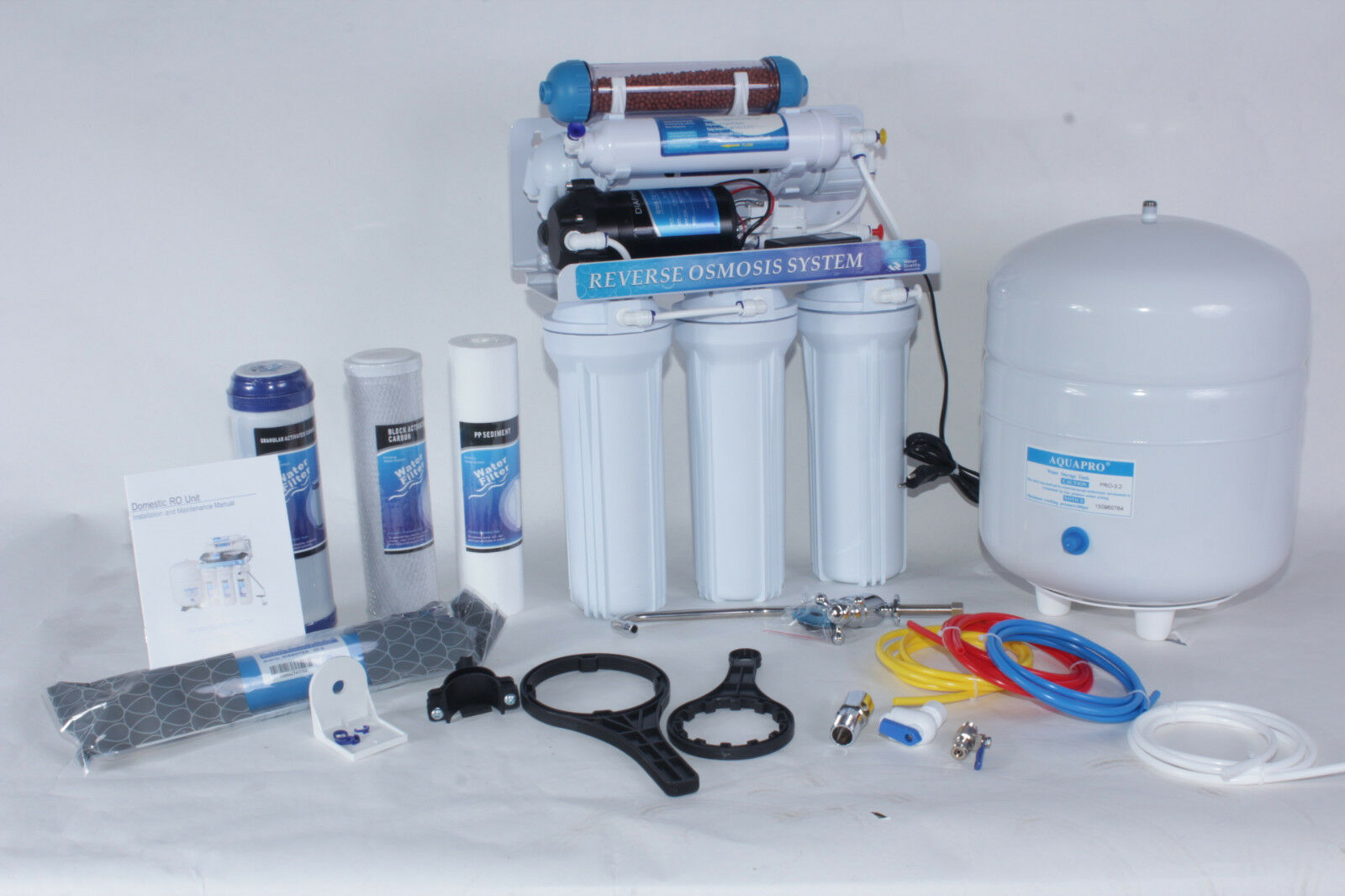 6 Etapes Osmose Inverse Osmose Inverse annexe avec céramique + booster ro50bp -06 50 g Nsf
