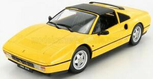 KK-SCALE FERRARI | 328 GTS SPIDER WITH REMOVABLE HARD-TOP 1985 | YELLOW