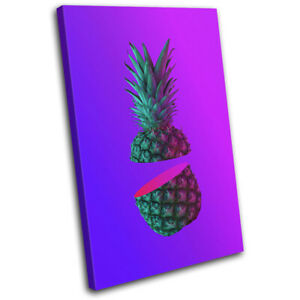 Pineapple-Neon-Tropical-For-Kids-Room-SINGLE-CANVAS-WALL-ART-Picture-Print
