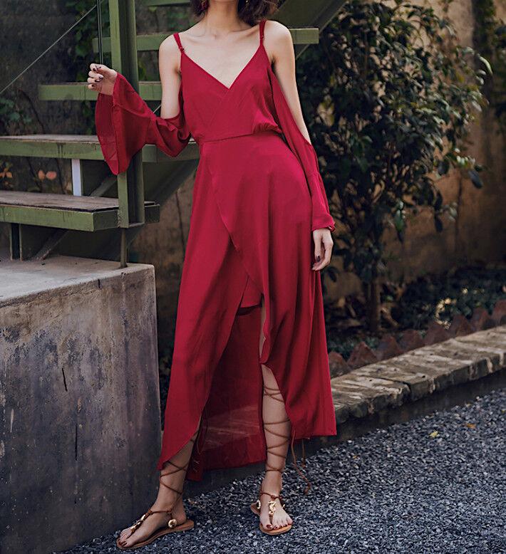 Vestito Lungo Donna Spacco Davanti Donna Maxi Asymmetric Dress 110364 P
