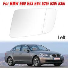 Fit BMW E60 E61 E63 E64 525i 530i Heated Mirror Glass w// Black Holder LeftDriver
