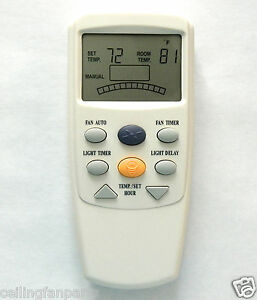 Hampton-Bay-Harbor-Breeze-Fan-LCD-Remote-Control-FAN-9T