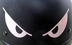 Evil Eyes REFLECTIVE Helmet Decal X BE SEEN EBay - Reflective helmet decals