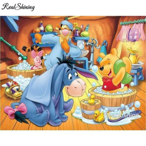 5D Diamond Painting Winnie the Pooh Bath Time kit
