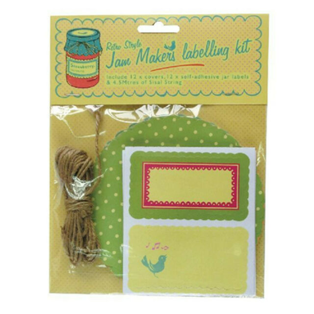24 X Jam Makers Labeling Kit 25 Pcs | Jar Toppers Sisal String Sticker  Labels