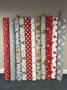 Image Is Loading Christmas Xmas Wipe Clean Cotton Oilcloth Tablecloth 134cm