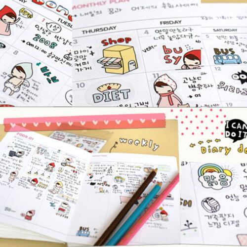 6* Kawaii My Little Friend Schedule Diary Calendar Filofax Decoration Sticker JS