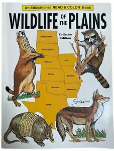 Vtg An Educational Read & Color Book Wildlife Of The Plains Collector Edition