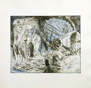 Kunst-in-der-DDR-1979-Farbradierung-Ullrich-PANNDORF-1954-D-handsigniert