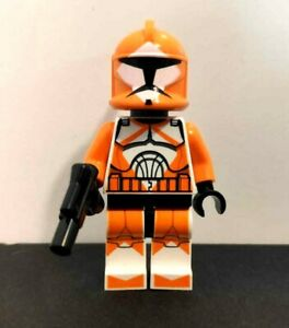 LEGO Star wars Bomb squad trooper orange with gun 7913 minifigure