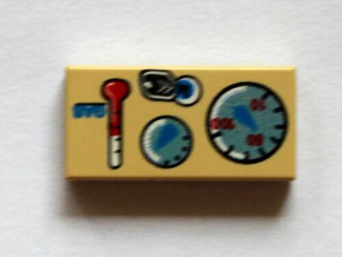LEGO 3069 piastrella stampati 1x2 Star Wars Grigio Scuro//Beige ampia scelta 05