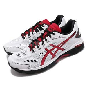 Asics-GT-2000-7-Blanc-Noir-Rouge-Hommes-Running-Training-Baskets-Chaussures-1011A158-100