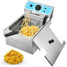 2000w 8l Electric Deep Fryer Home Or Commercial Countertop Basket Fry Restaurant