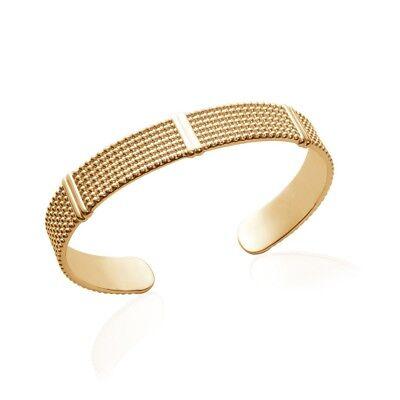 Bracelet jonc rigide diamètre 62 mm plaqué-or 750//000 garanti 10 ans