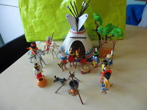 Playmobil Tente Indien 10 Personnages Option Rarissime