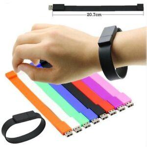 Silicone-Bracelet-Wrist-Band-2GB-USB-Flash-Drive-Stick-U-Disk-Portable-USA-SHIP