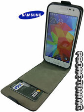 Funda flip cover piel para SAMSUNG GALAXY CORE 2 g355HN carcasa cierre imán