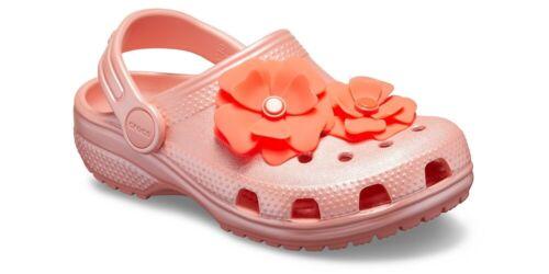 Crocs Classic Vivid Blooms Kids Clogs Melon