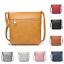 Womens Simple Roomy Compartment Messenger Crossbody Handbag Shoulder Bucket Bag