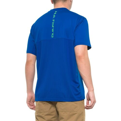 Choose Color NEW! HUK Icon High Performance Moisture Wicking Fishing S//S Shirt