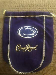 Penn State Logo'd CROWN ROYAL BAGS 750 Ml 9x7