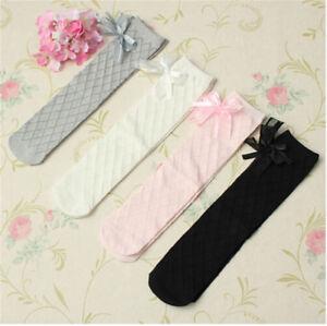 Bambins-filles-coton-chaussettes-collants-ecole-genou-haut-basRD