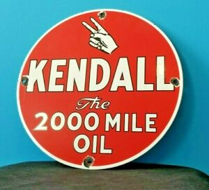 VINTAGE-KENDALL-MOTOR-OIL-PORCELAIN-GAS-MOTOR-OIL-SERVICE-STATION-PEACE-SIGN