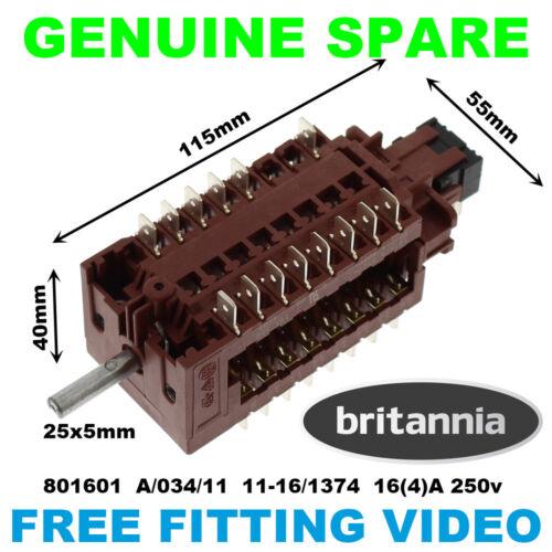Britannia SI 10 xgcclcc SI9T 900LMP siine 10T DA FORNO SELETTORE A03411