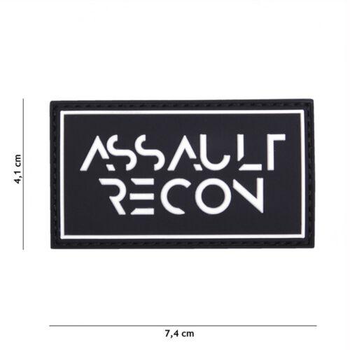 Assault Recon Noir #16113 Patch Velcro Airsoft Paintball Tactical
