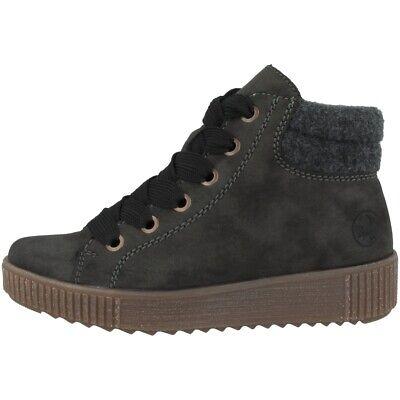 Rieker Newa Filz Schuhe Damen Winter Boots gefüttert Stiefel Schnürer Y6424 45 | eBay