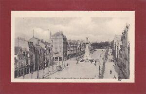 CPA-51-REIMS-Place-Drouet-d-039-Erlon-et-Fontaine-Sube-edition-rare