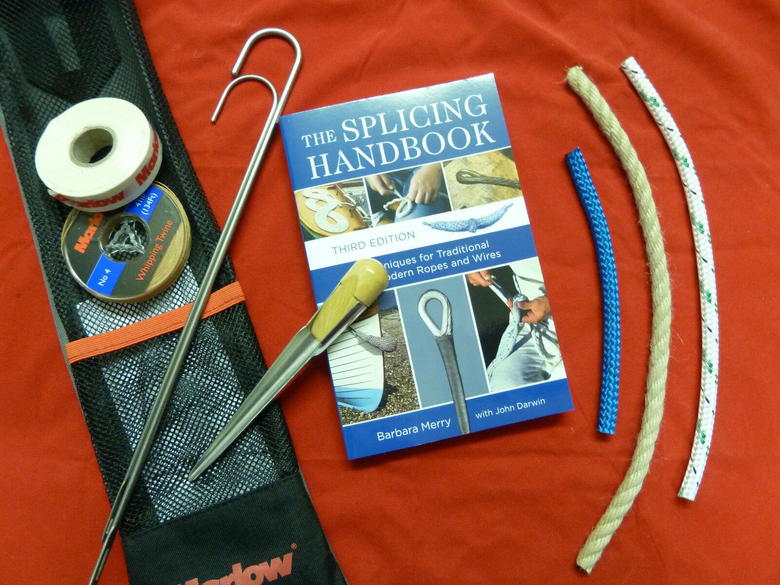 GIFT SET   Splicing kit, book and rope. Splicing handbook. Rope Gift.
