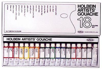 Holbein Artist Gouache Set : 18 x 5ml tubes