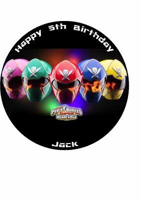 Astonishing Power Rangers Super Megaforce Novelty Edible Birthday Cake Topper Funny Birthday Cards Online Inifodamsfinfo