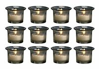 Biedermann & Sons 12 Count Oyster Glass Votive Candle Holders (hj32)