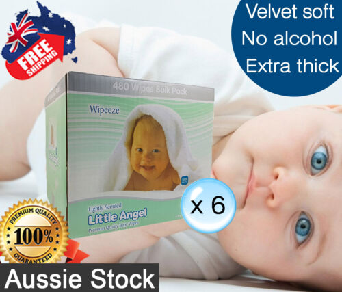6 Boxed of 6 pk Little Angel Baby 80 Wipes Lightly scented = 2880 wipes