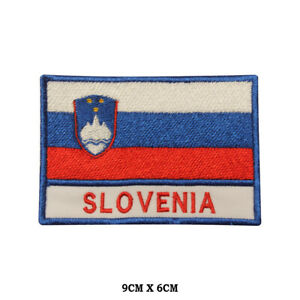 SLOVENIA-National-Flag-Embroidered-Patch-Iron-on-Sew-On-Badge-For-Clothes-etc