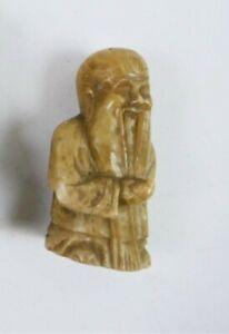 Figurine de sage en pierre dure - Chine - XXème