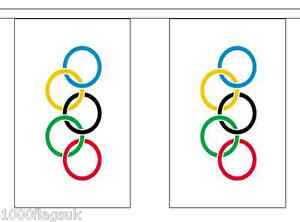 Olympic Games IOC Polyester Flag Bunting - 6m long with 20 Flags