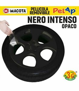 MACOTA PELAP vernice rimovibile Spray 500ml Wrapping Tuning Cerchi nero