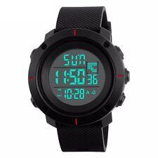 New Fashion Black Mens Rubber LED Digital Date Military Quartz Sport Wrist Watch