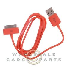 Apple iPhone 4/i4S Data Cable Orange Sync USB Charger Cord Transfer Connector